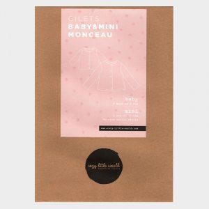 Patron pochette – Gilet Monceau BABY et MINI (3 mois-14 ans)