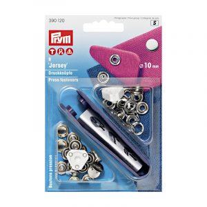 Boîte de 9 boutons pression spécial Jersey Prym 10mm – métal